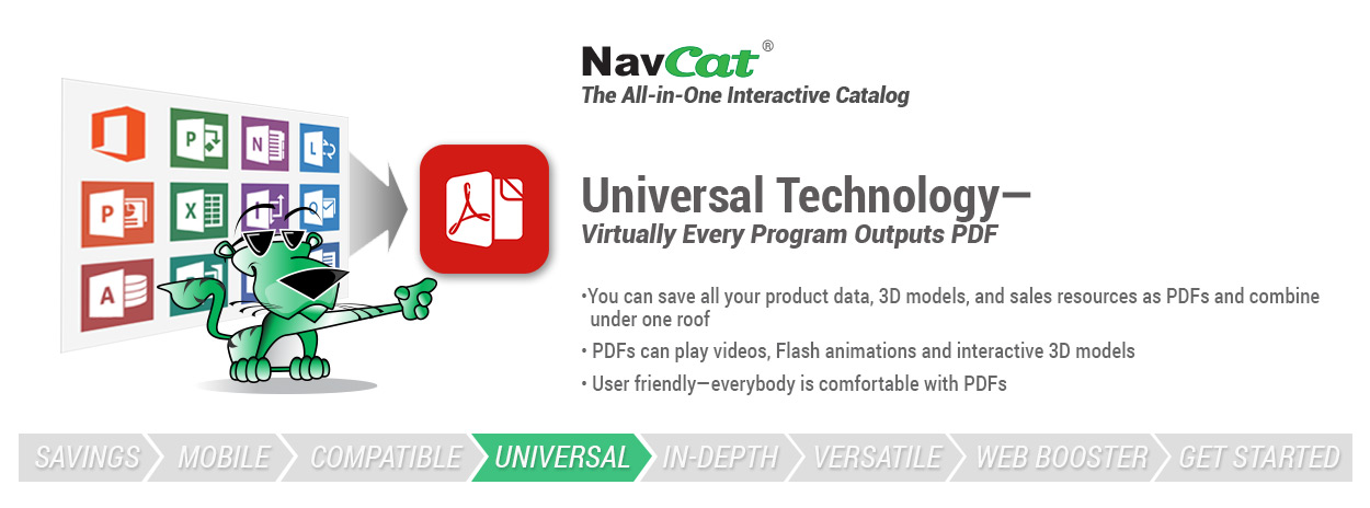 Universal technology - virtually every program outputs PDFs